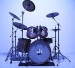 blue drum set